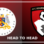 Image of the Bradford (Park Avenue) and AFC Bournemouth crests side by side