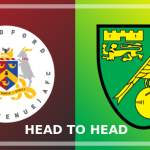 Image of the Bradford (Park Avenue) and Norwich City crests side by side
