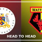 Image of the Bradford (Park Avenue) and Watford FC crests side by side